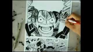 Speed drawing Luffy Haki -One Piece-