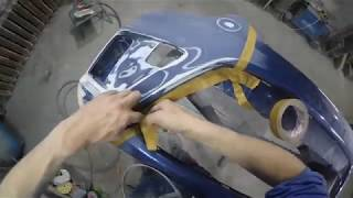 Ford c max ремонт бампера, покраска переходом