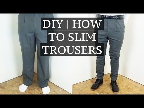 DIY | How To Slim & Shorten Suit Trousers | Josh Barnett