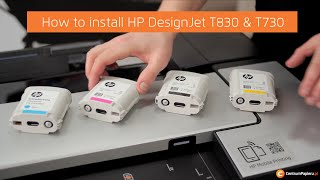 HP DesignJet T830 & T730 - how to insall