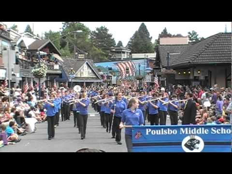 Poulsbo Middle School Panther Marching Band - Viking Fest Parade 2012