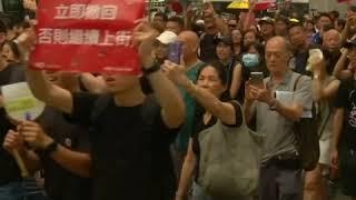香港继续爆发大规模游行 争取中国游客支持