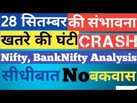 Nifty U0026 BankNifty Analysis For 28th September Monday   Market Crash   Options Guide   Friday