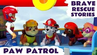 paw patrol brave rescues with thomas friends and minions   peppa pig and scooby doo episodes