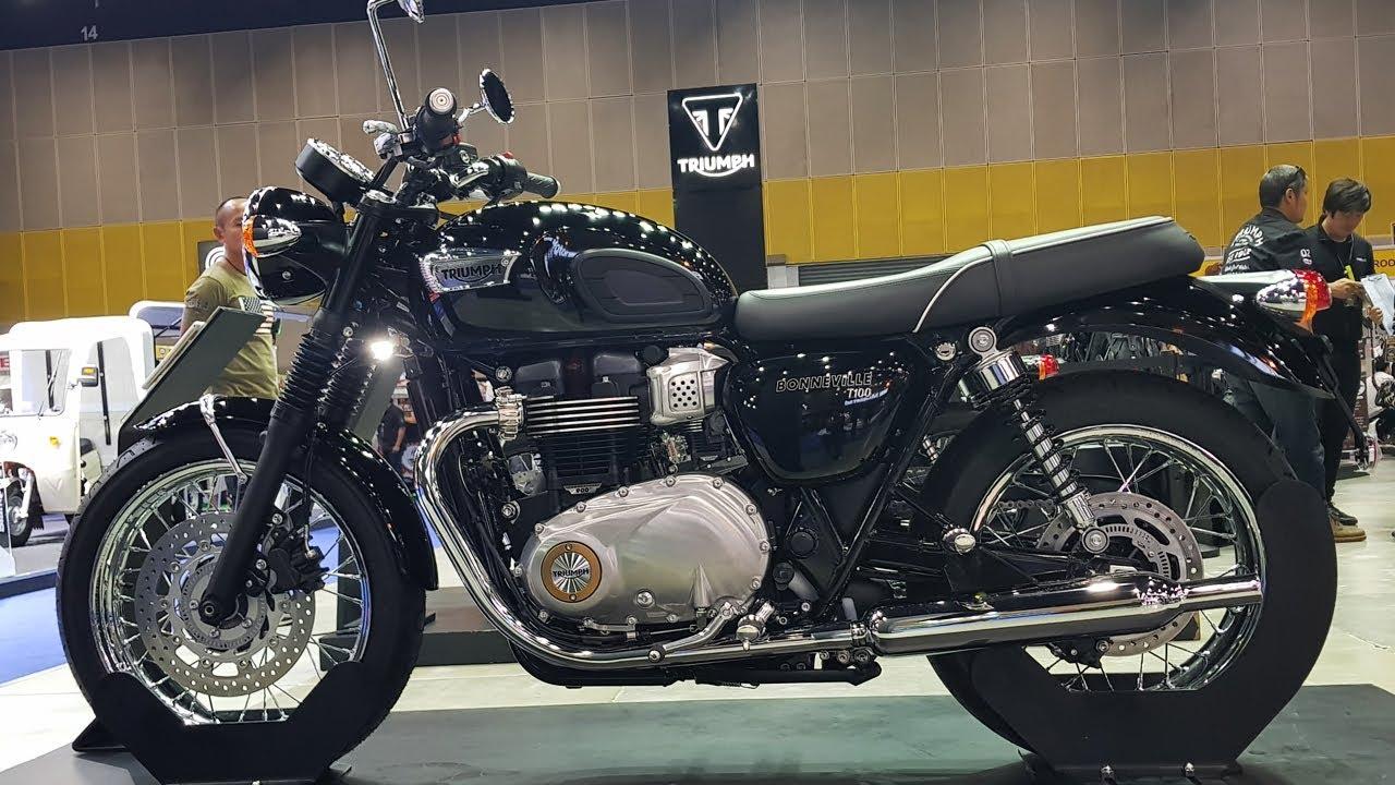 Triumph Bonneville T100 Jet Black Youtube