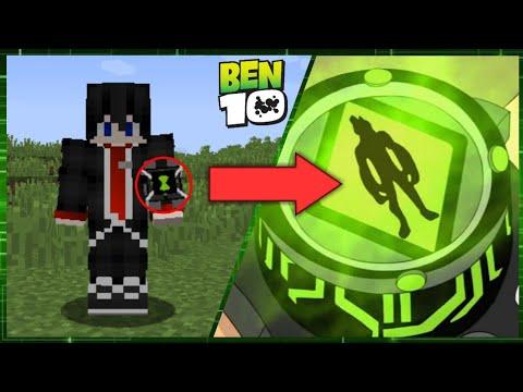 จะเกิดอะไรขึ้น? ถ้ามีนาฬิกาของ'เบ็นเท็น' สุดเจ๋ง! แปลงร่างได้!! (command) - Minecraft Ben10 Omnitrix