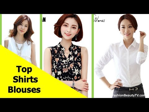 Top 50 Beautiful Shirt And Blouse Designs For Ladies S4