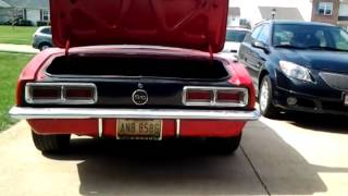 Sequential tail lights on a 1968 camaro
