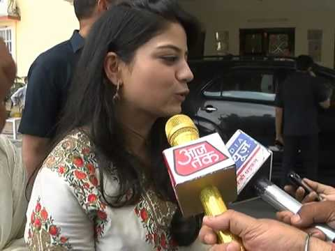 Iitija, younger daughter of Mehbooba Mufti after oath ceremony of her mother