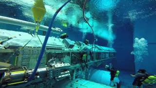 NBL Astronaut Training Underwater