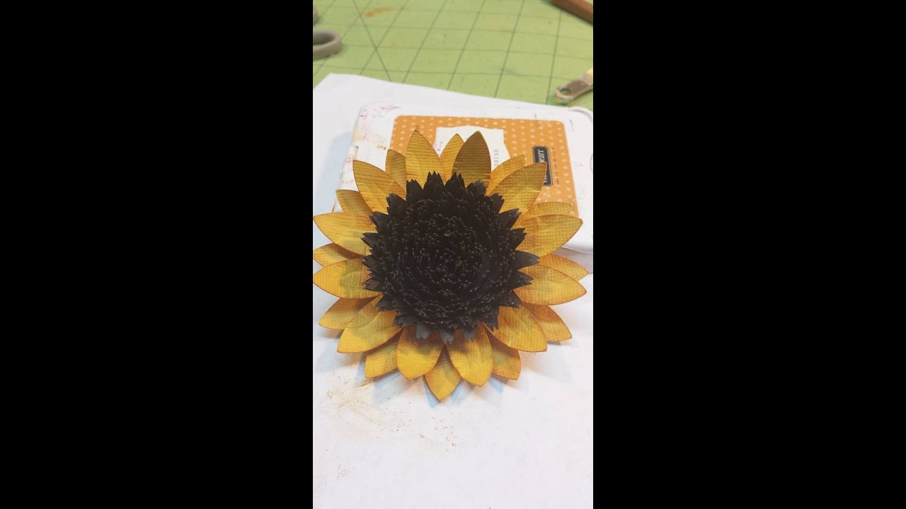 Sunflower paper tutorial youtube for Sugarloaf craft festival nj