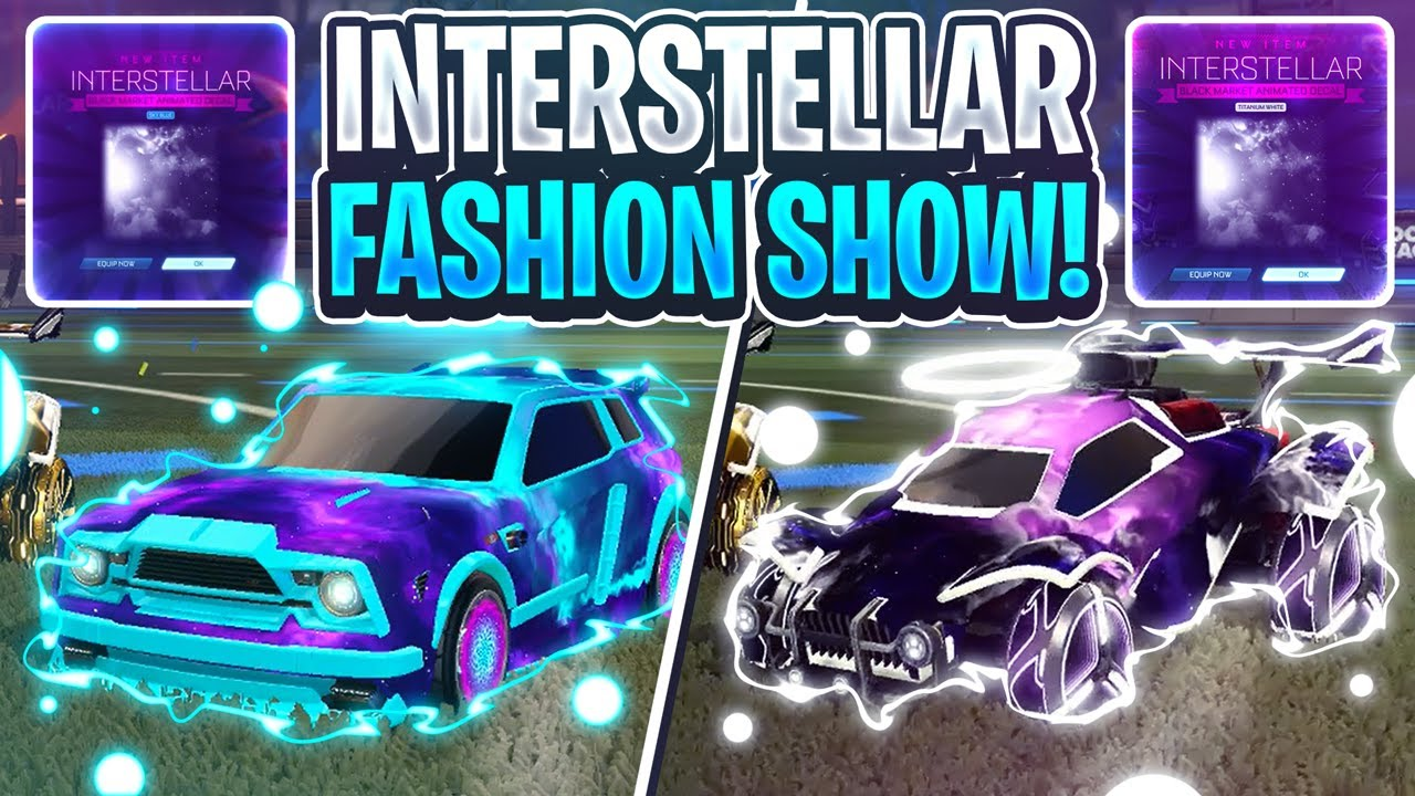 I Hosted The Interstellar Only Fashion Show In Rocket League Insane Designs Youtube