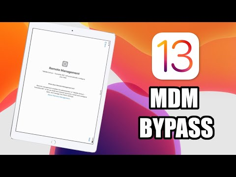 How To Bypass MDM Lock IOS 13 For FREE