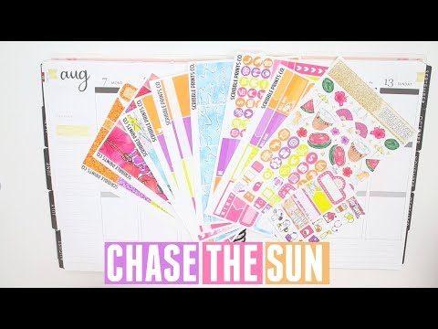 Plan With Me! | Scribble Prints Co Chase The Sun