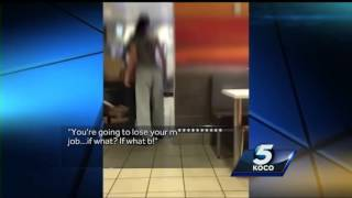 Fight between employee, customer at southwest OKC McDonald's caught on camera