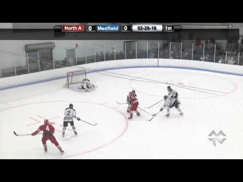 Medfield Warrior Boys Hockey vs N. Attleboro , MIAA D2 South First Round (2-28-2018)