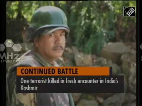 One terrorist killed in fresh encounter in India's Kashmir  (22 Sep,2016)