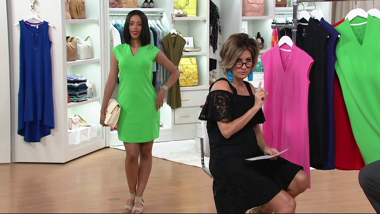 ff42e6c47e9 Isaac Mizrahi Live! Essentials Crossover V-neck Dress on QVC - YouTube