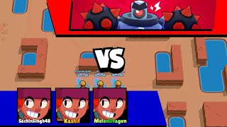 Triple Amber Brawler  in Boss Fight !!!! Brawl Stars boss fight