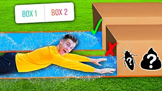 DON'T Slide Through The Wrong MYSTERY BOX.. - Challenge