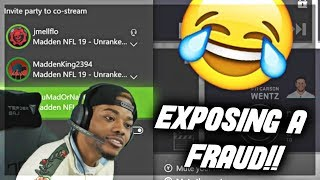 FUNNIEST ARGUMENT WITH A TRASH TALKER...HE GOT EXPOSED 😨 Madden 19