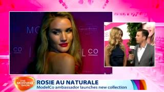 Rosie Huntington-Whiteley For ModelCo   The Morning Show Live Cross