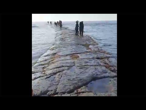 Каменная дорога от Сахалина по дну Татарского пролива