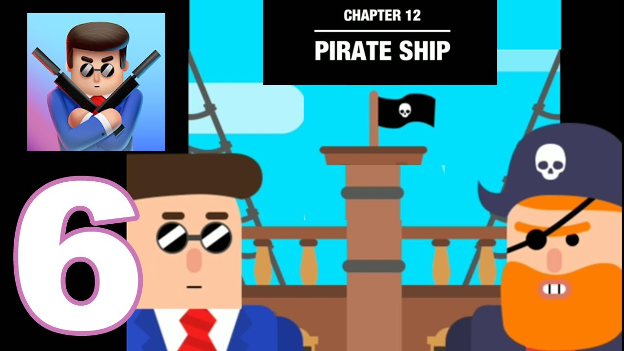 Mr. Bullet: Spy Puzzles - Gameplay Walkthrough Part 6 - Chapter 12 Pirate Ship (Android Games)