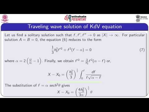 The korteweg -de vries equation  and solutions (Maths)