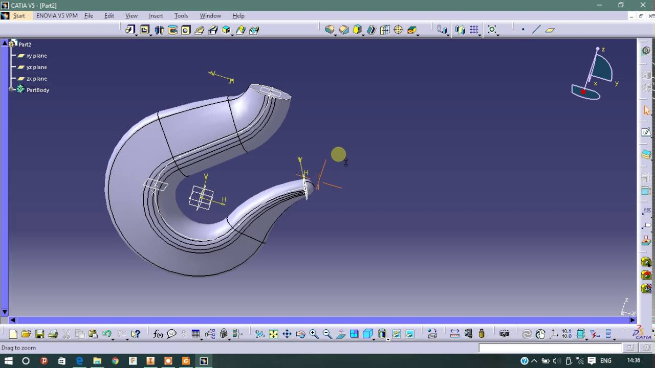 Catia Sketch On Curved Surface