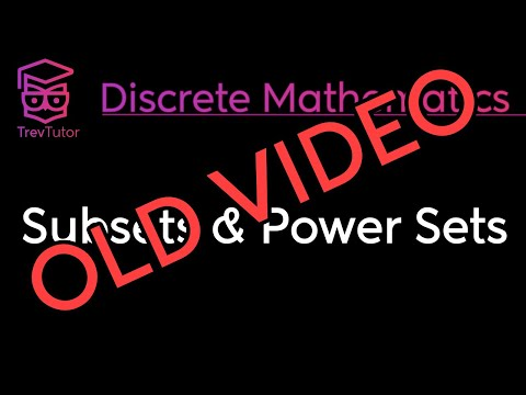 [Discrete Math 1] Subsets and Power Sets