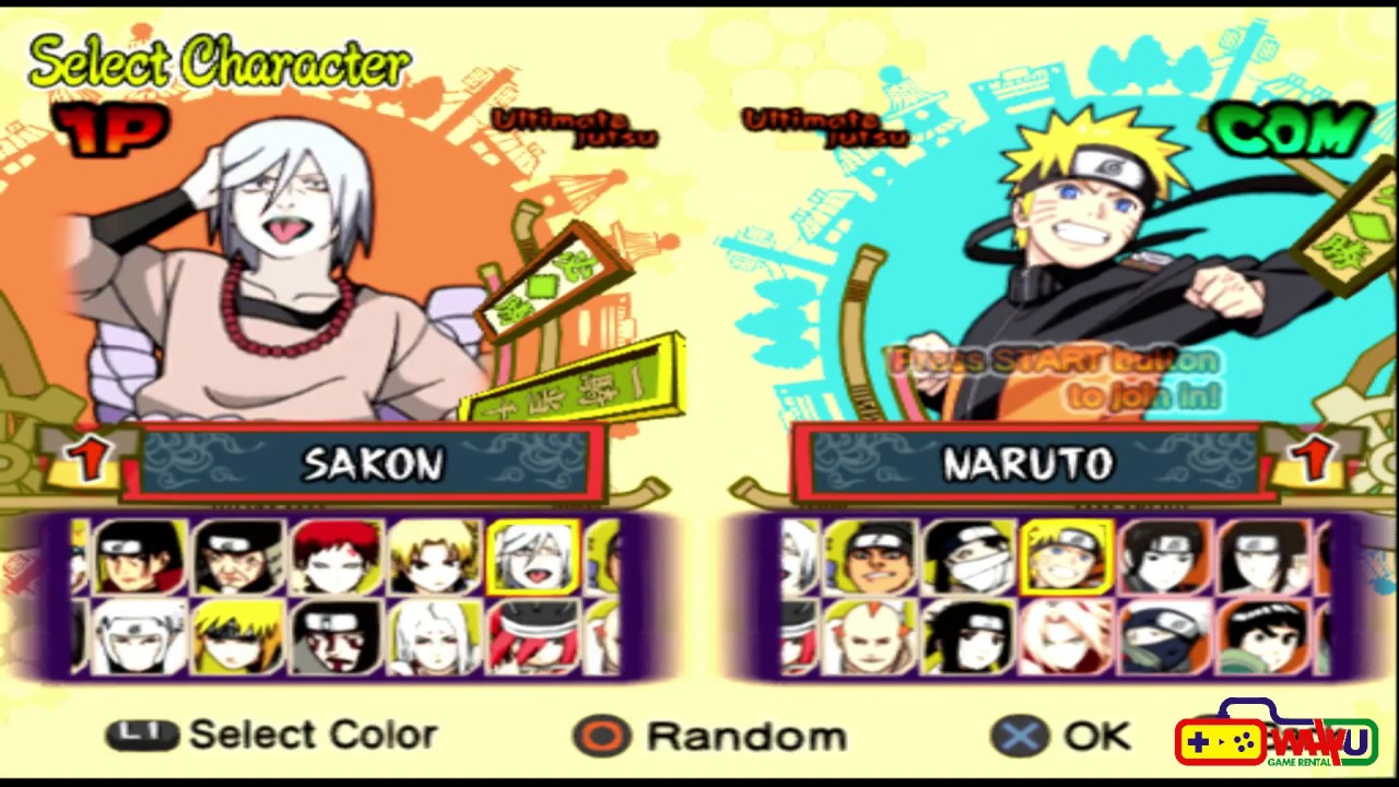 Cara Membuka Semua Karakter Naruto Shippuden 5 Ps2 Youtube