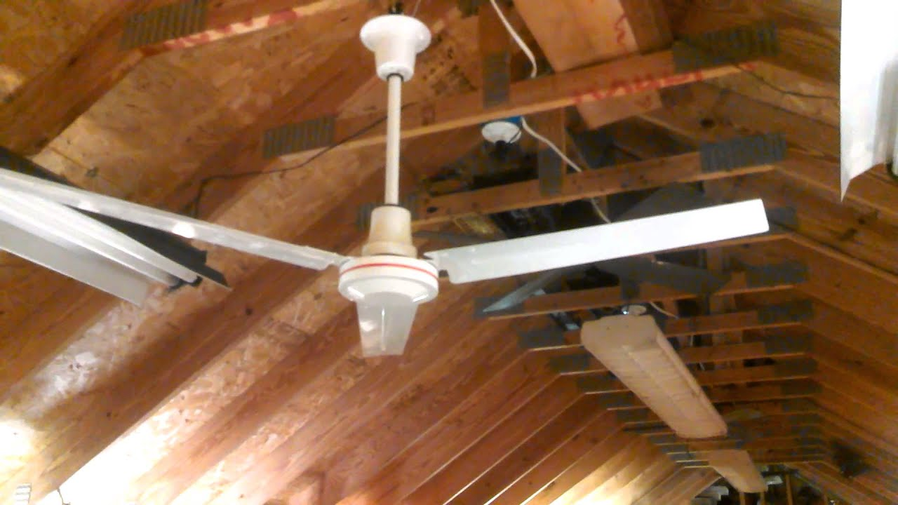 Dayton Industrial Commercial Ceiling Fan Model 5npz5 Youtube