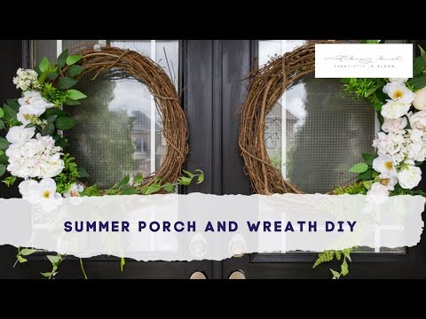 Front Porch Decor And Summer Wreath DIY