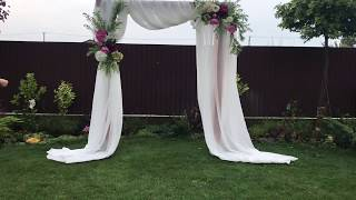 Арка из искусственных цветов | Выездная церемония | Wedding Decor Ideas