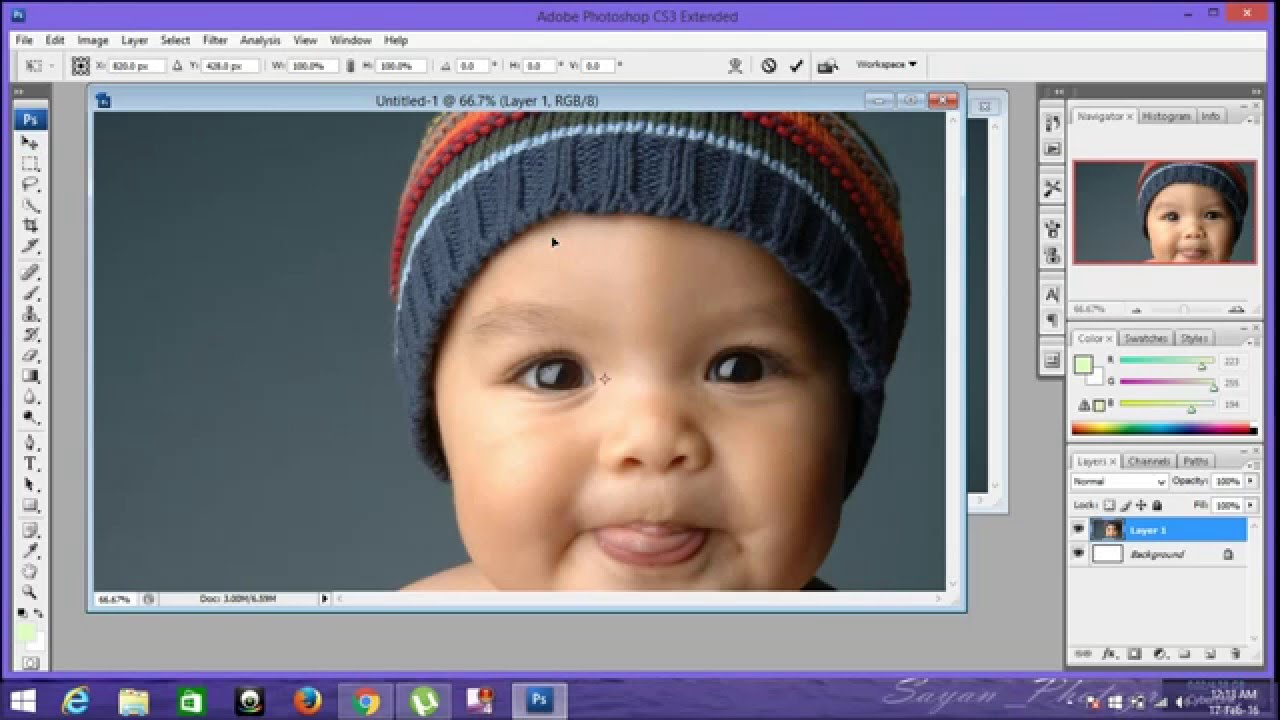 Adobe photoshop cs3 tutorial #1: basic tools youtube.
