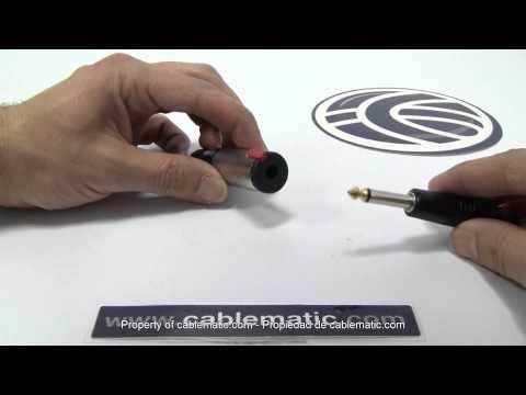 Conector jack 6.3mm hembra mono metal distribuido por CABLEMATIC ®