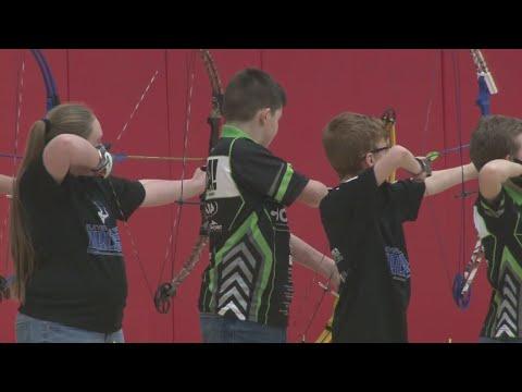 1st ever archery tournament at Wheeling Park High School