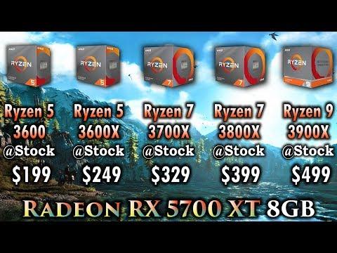 Ryzen 5 3600 vs Ryzen 5 3600X vs Ryzen 7 3700X vs Ryzen 7 3800X vs Ryzen 9 3900X | Radeon RX 5700 XT
