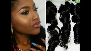 (Aliexpress) Sunlight Human Hair Co.Brazillian Virgin Hair Unpackaging Review | PETITE-SUE DIVINITII