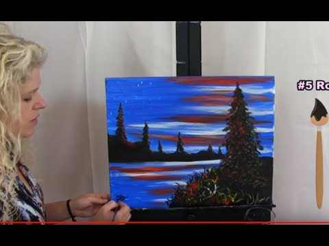 How To Paint American Flag Sunset | Paint And Sip At Home | Step By Step Tutorial