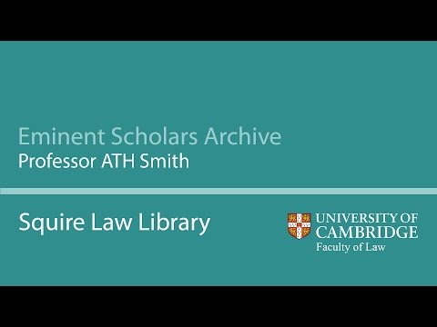 Eminent Scholars Archive: Professor ATH Smith