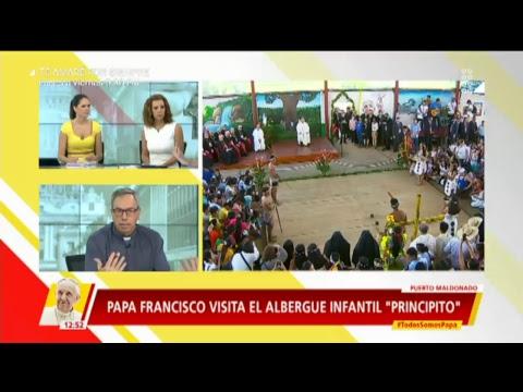 El Papa Francisco llega a Puerto Maldonado para su encuentro con los Pueblos de la Amazonía.