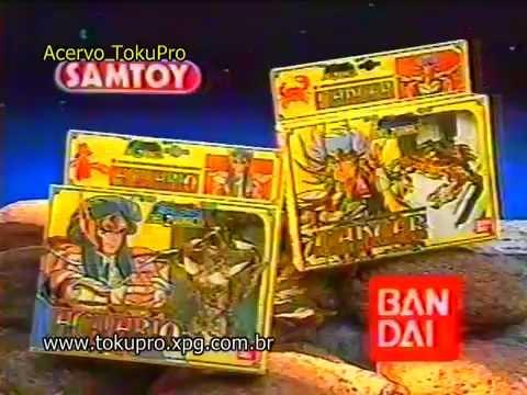Uma das propagandas dos Bonecos dos Cavaleiros do Zodíaco na Rede Manchete