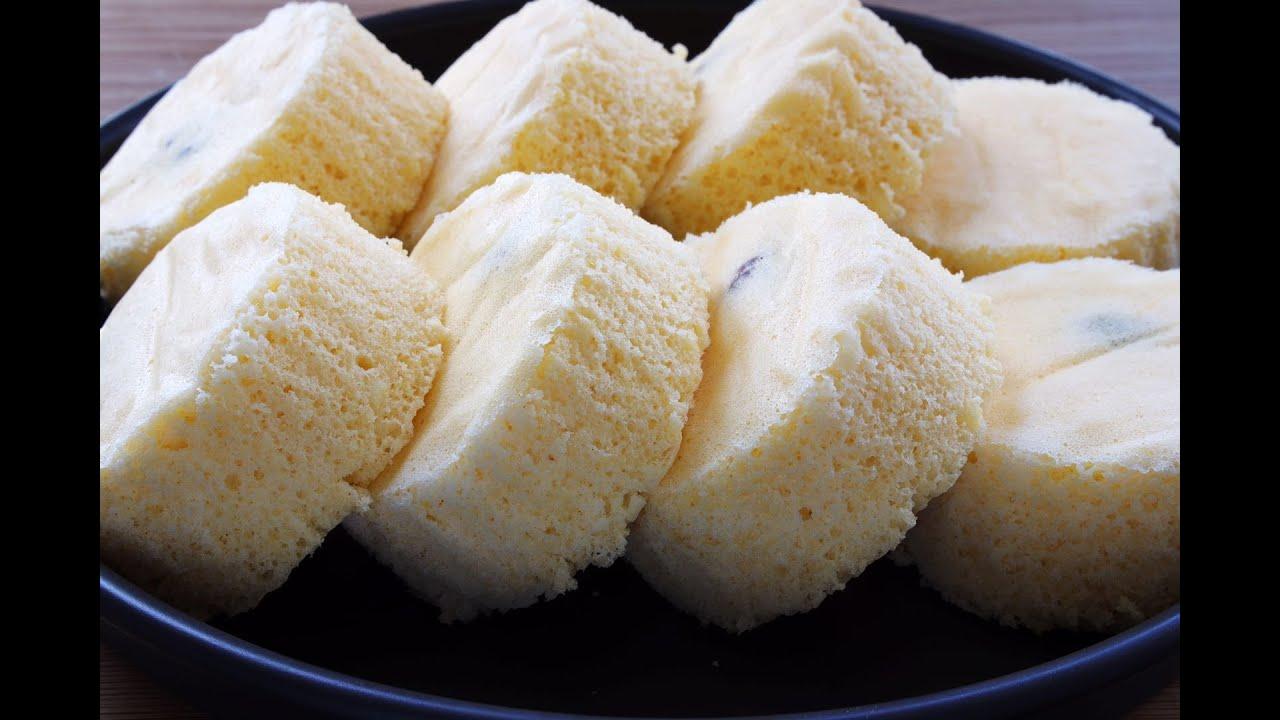 【蒸雞蛋糕】比發糕好吃,比饅頭營養,無油無水,健康不上火,夏天吃太好了