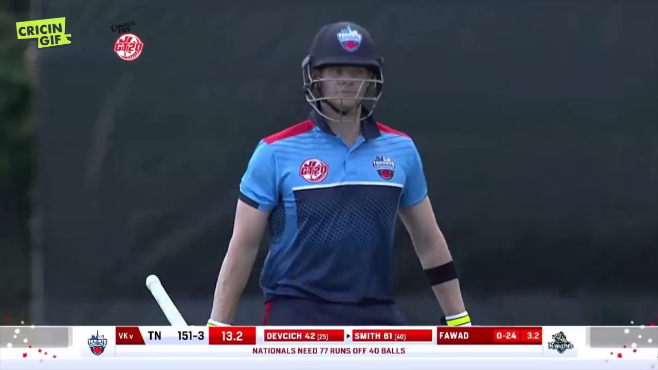 Steve Smith's first innings after ball-tampering ban - GT20Canada