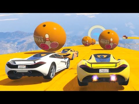 DODGING BOWLING BALLS! - GTA 5 Funny Moments #743