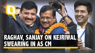AAP Leaders Raghav Chadha, Sanjay Singh on Arvind Kejriwal's Swearing In as Delhi CM | The Quint