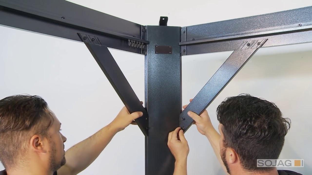 Sojag Moreno 10 x 12 Gazebo Sun Shelter Installation - YouTube