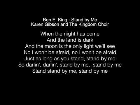 Karen Gibson and The Kingdom Choir - Stand by Me Lyrics (Ben E  King) The Royal Wedding